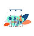 meeting coworking teamwork analysis business vector image vector image
