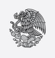 mexican eagle and snake tattoo vector image