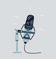 microphone on a white vector image