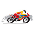 motorcycle racer vector image