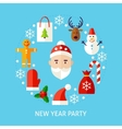 New Year Party Flat Concept vector image vector image