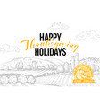 november holiday congratulations postcard template vector image