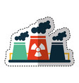 nuclear plant chimney icon vector image vector image