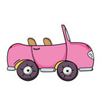 pink sport car to tranport vehicle vector image vector image