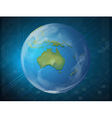 Planet earth on blue background vector image vector image