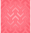 Red corner pattern vector image