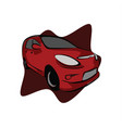 red sport city car vector image vector image