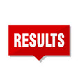 results red tag vector image vector image