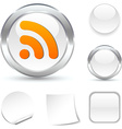 Rss icon vector image vector image