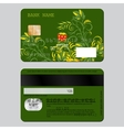 Sample design template credit card from two sides vector image vector image