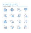 set color line icons gambling vector image vector image