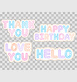 set colorful stickers vector image vector image