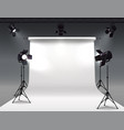 shooting studio lights composition vector image