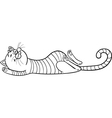 sleeping cat cartoon for coloring vector image