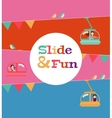 slide and fun activities ski lift cable vector image vector image