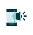 smartphone speaker marketing business strategy vector image
