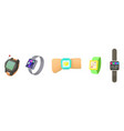 smartwatch icon set cartoon style vector image vector image