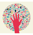 Social media network business vector image