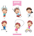 sport character vector image vector image
