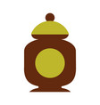 sugar pot isolated icon vector image vector image