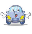 surprised cute car character cartoon vector image vector image