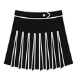 Tennis female skirt icon simple style vector image