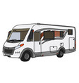 the white large motor home vector image vector image