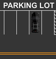 Top view parking lot vector image vector image