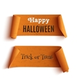 Two Halloween banners vector image vector image