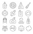 vaping icons set isolated trend vector image vector image