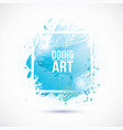 watercolor-blue-doing-art vector image vector image