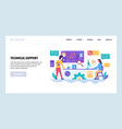 web site design template call center and vector image