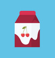 yoghurt in carton package isolated cartoon icon vector image vector image