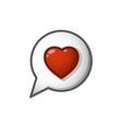 heart sign in cloud cartoon vector image