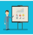 Concept of presentation vector image