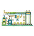 industrial conveyor belt line flat vector image