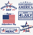 Set of Independence day greeting cards flyers vector image