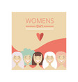 8 march womens day floral greeting card party vector image vector image