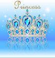 a shiny crown tiara with precious stones and the vector image vector image