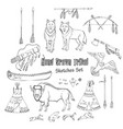 american indian background vector image vector image