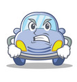 angry cute car character cartoon vector image vector image