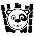 animal panda sign vector image vector image