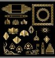 art deco nuevo geometric elements frames