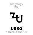 astrology asteroid ukko vector image