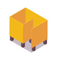 beach changing room isometric yellow object vector image