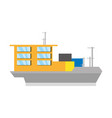 big merchandise ship vector image