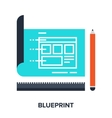 blueprint flat concept vector image vector image