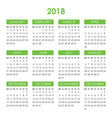 calendar for 2018 year vector image vector image