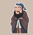 chinese philosopher confucius caricature