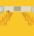 classroom interior vector image